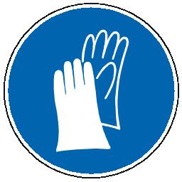 Icône bleu pictogramme protection main à télécharger gratuitement