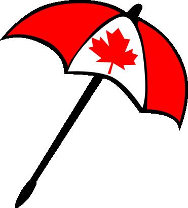 Icône drapeau canada parapluie à télécharger gratuitement